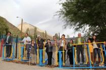 Incentivan el deporte con la inauguración de gimnasios al aire libre en Huanta y Chapilca