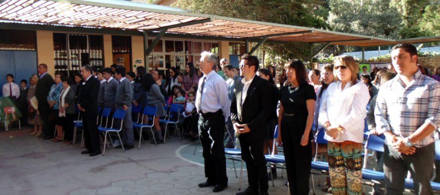 Comunidad educativa despide actuales dependencias de las Escuela de Pisco Elqui