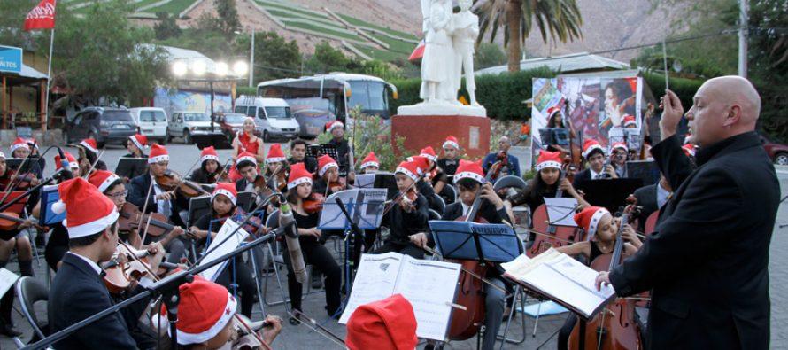 Más de cien niños beneficiados con fondos del Gobierno Regional brindan concierto navideño en Montegrande