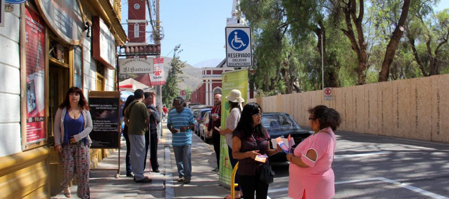 Llaman a respetar estacionamientos para personas en situación de discapacidad en Vicuña