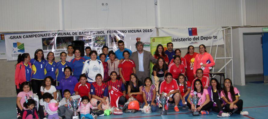 Féminas Barrabases fueron las campeonas de la Liga Femenina de Baby Fútbol de Vicuña