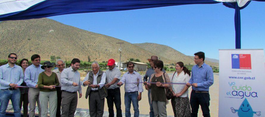 Agricultores de Vicuña y Gobierno destacan obras de reparación de embalse El Tambo