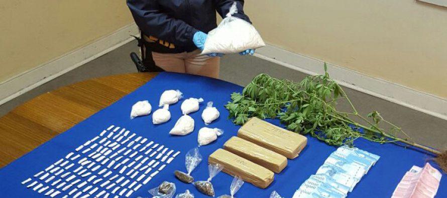 En espectacular operativo la  PDI de Vicuña detuvo  a 7 personas por tráfico de drogas