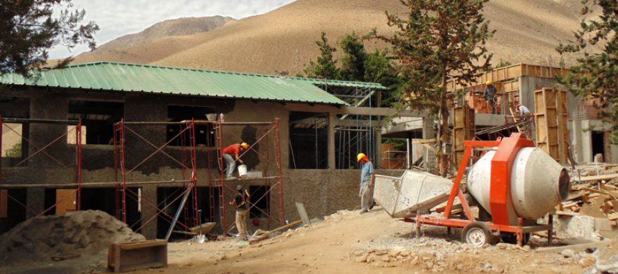 Un 80% de avance presentan las obras de la nueva Escuela de Horcón