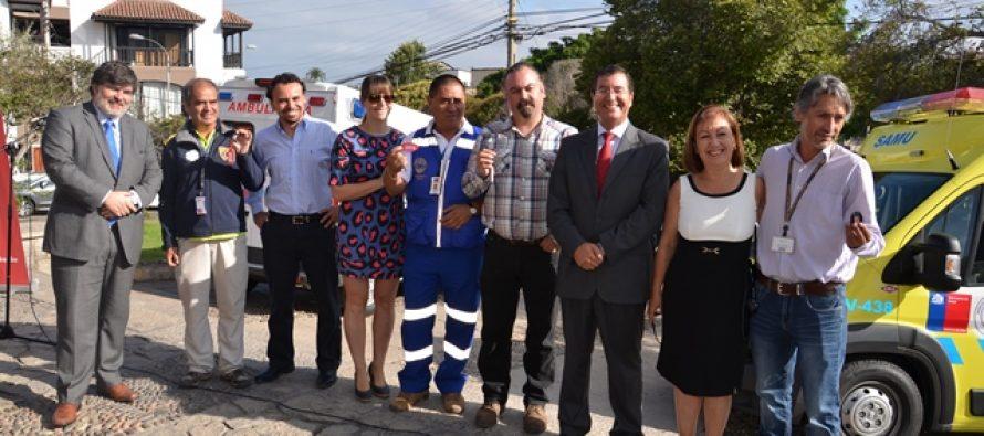 Entregan ocho ambulancias para seis hospitales de la región entre ellos a Vicuña
