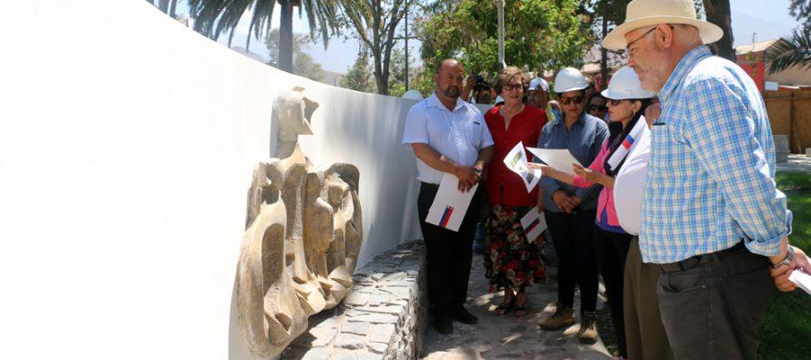 CORES evalúan positivamente trabajos de restauración en la plaza de Vicuña