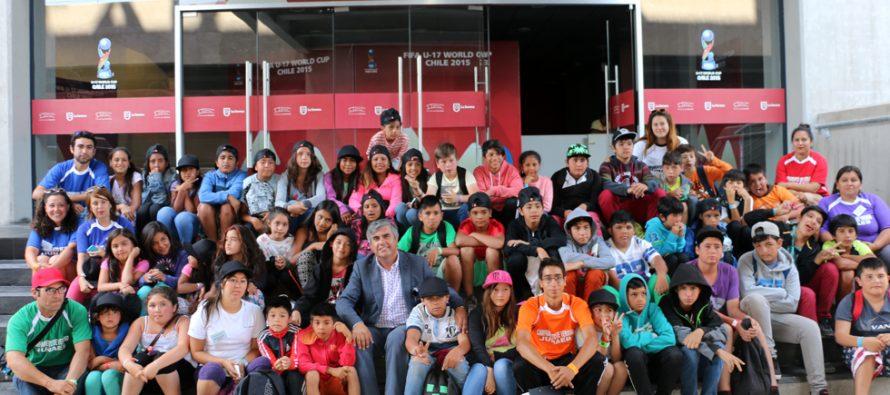 Escuelas de Verano de Vicuña pudieron disfrutar de una visita al Estadio La Portada de La Serena