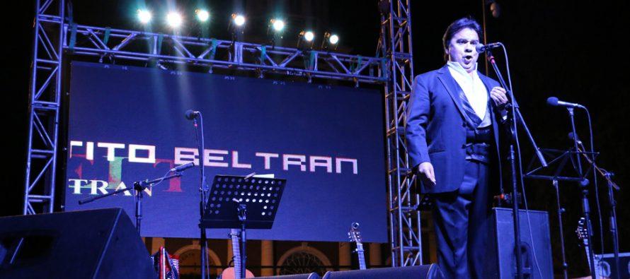 Tito Beltrán encantó al público vicuñense junto a Los Ponchos Colorados en el Carnaval Elquino 2016