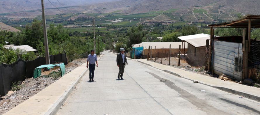 Evalúan positivamente proceso de pavimentación en la comuna de Vicuña