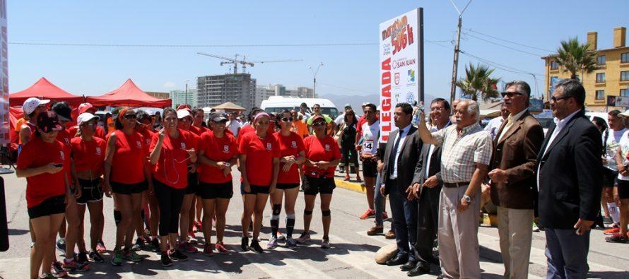 Competidores inician maratón extrema de 506 kms desde El Faro de La Serena hacia San Juan Argentina