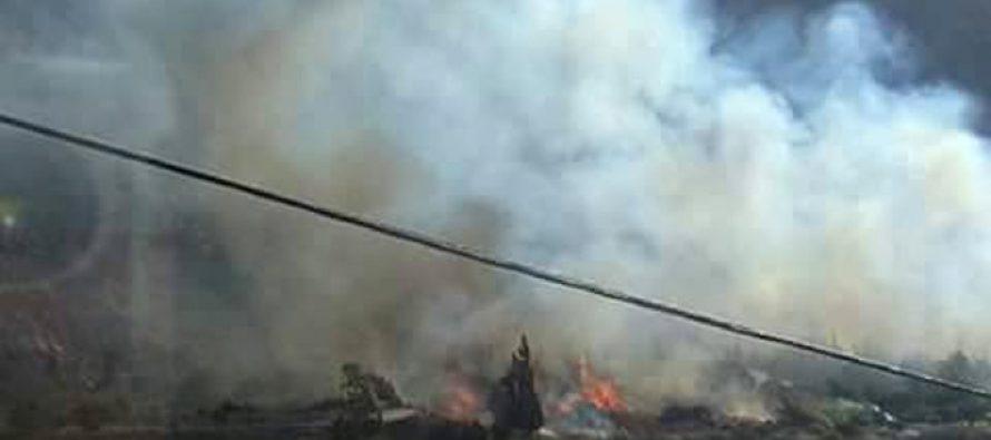 Investigan las causas del incendio provocado en Tres Cruces