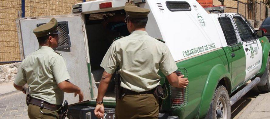 Dos detenidos dejan balance policial en Paihuano