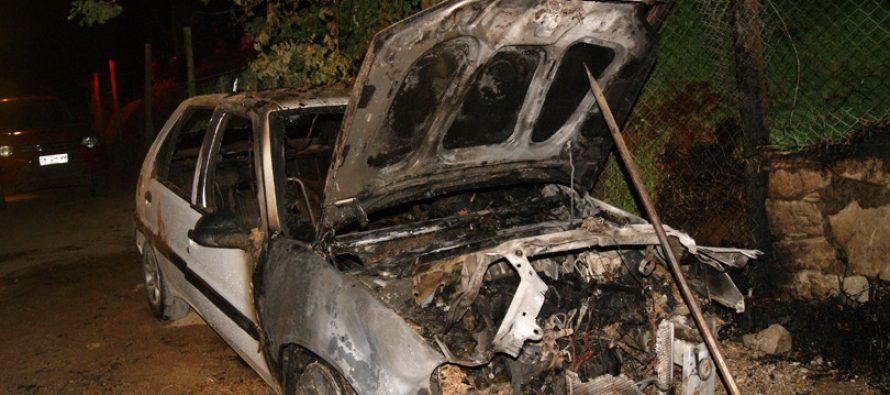 Investigan incendio de automóvil en sector Quebrada La Greda en Pisco Elqui
