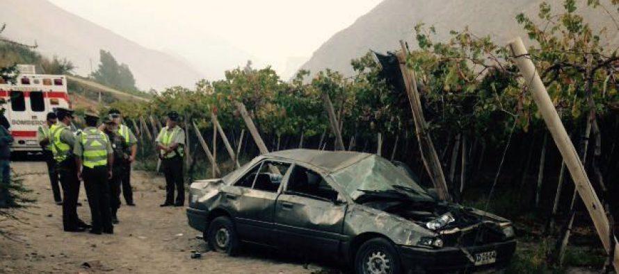 Una persona fallecida y otra lesionada en accidente en ruta D-485 en sector de Rivadavia-Tres Cruces
