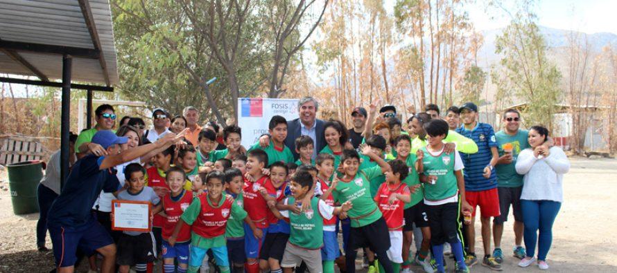 Escuela de fútbol Nahuel Rojas obtiene financiamiento de proyecto deportivo del FOSIS