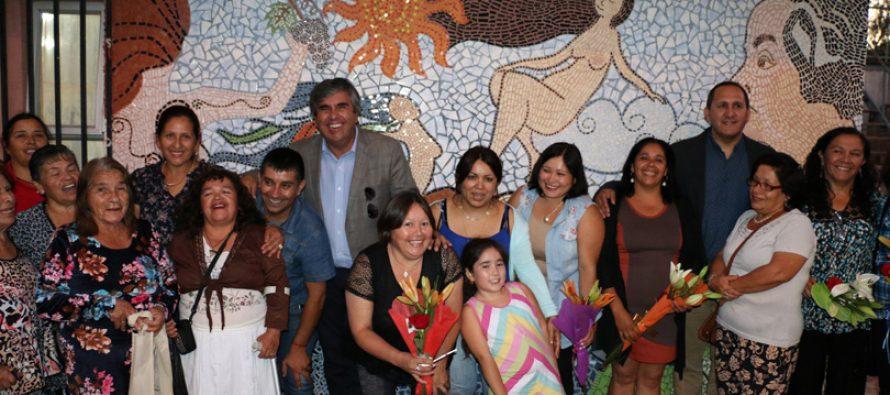 Resaltan la labor de la mujer elquina a través de mural inaugurado en Calingasta