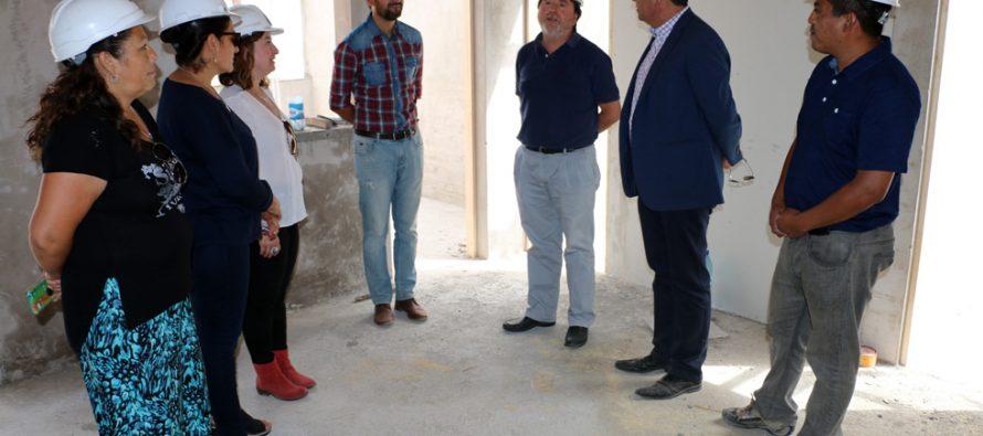 Un 70% de avance presenta la construcción de la sede comunitaria de Villa Gerónimo Rendic
