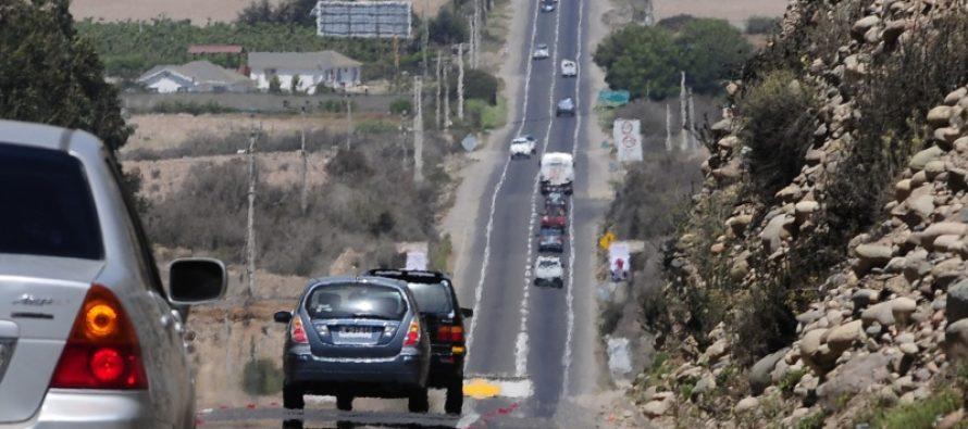 Para el mes de julio se espera que esté terminado diseño de doble vía La Serena-Las Rojas