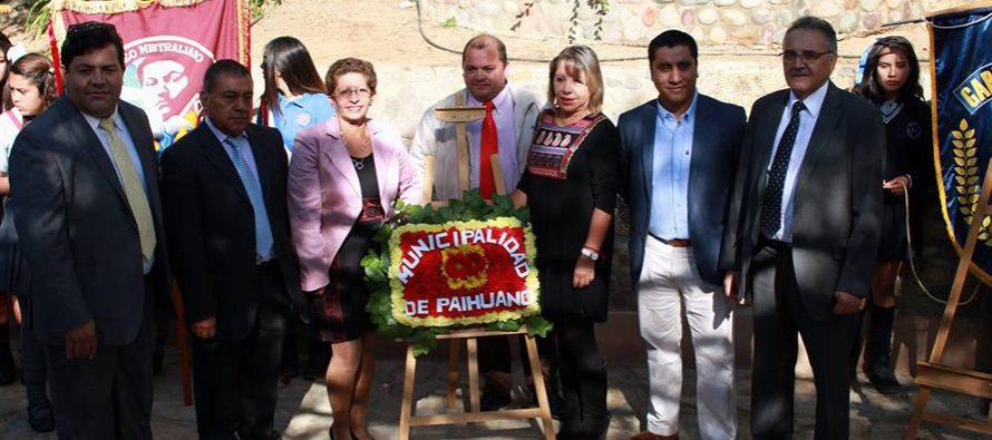 Con acto  oficial Paihuano recordó los 127 años del natalicio de Gabriela Mistral