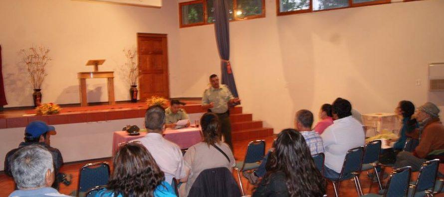 Organizaciones Sociales de Paihuano participaron de diálogo de Seguridad Pública