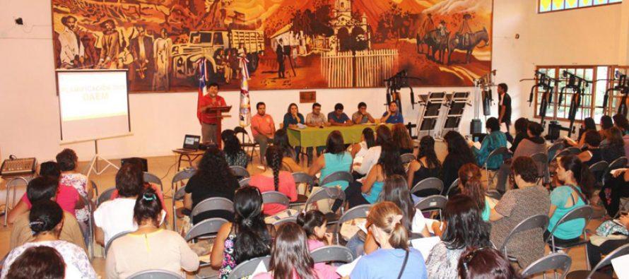 Profesores de Paihuano planifican año académico 2016