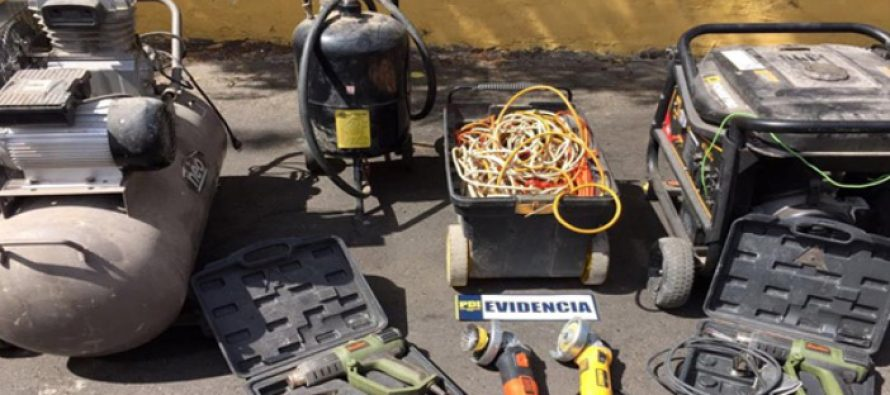 PDI detiene a sujeto que robo materiales usados   en la redomodelación de  la plaza de Vicuña