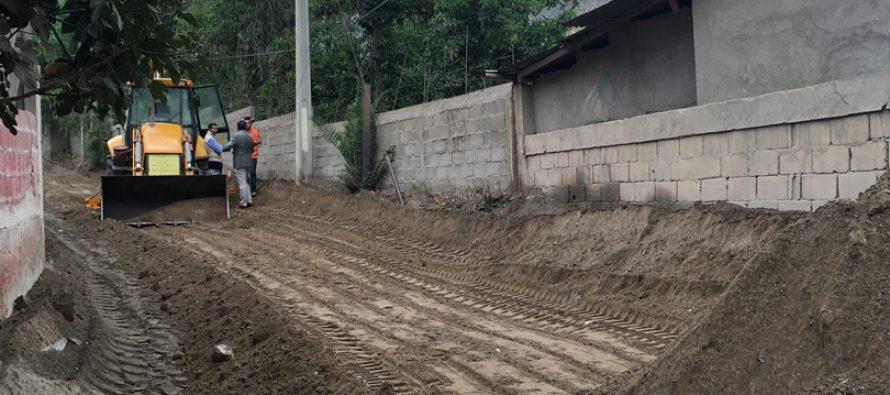Comienzan los trabajos de pavimentación en el ingreso de Lourdes