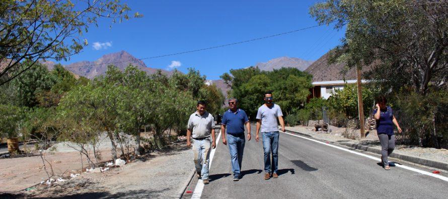 Vecinos de La Campana felices por la pavimentación de sus calles