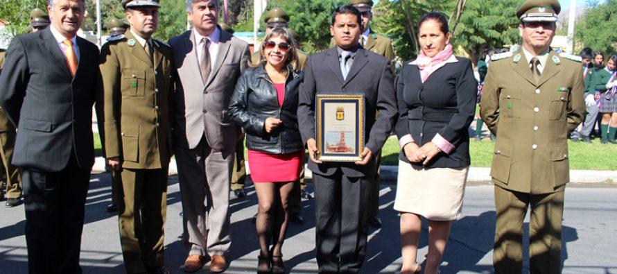 Destacan a Carabineros por su labor en la comuna en el aniversario institucional número 89