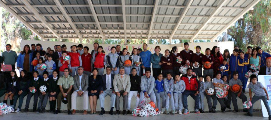 Más de 6 millones de pesos se invirtieron para los talleres extraescolares deportivos en Vicuña