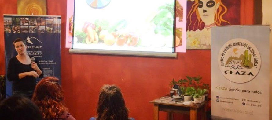 Café científico en Vicuña: Uso de microorganismos en agricultura genera interés en los asistentes