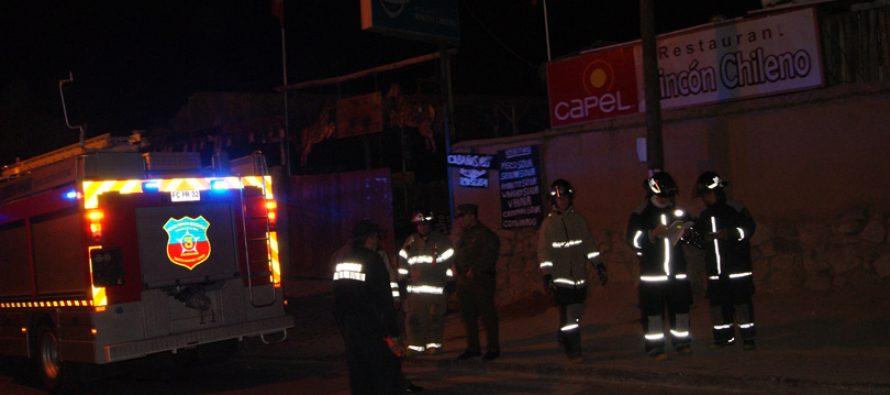 Fuga de gas se produjo en conocido local comercial en Pisco Elqui