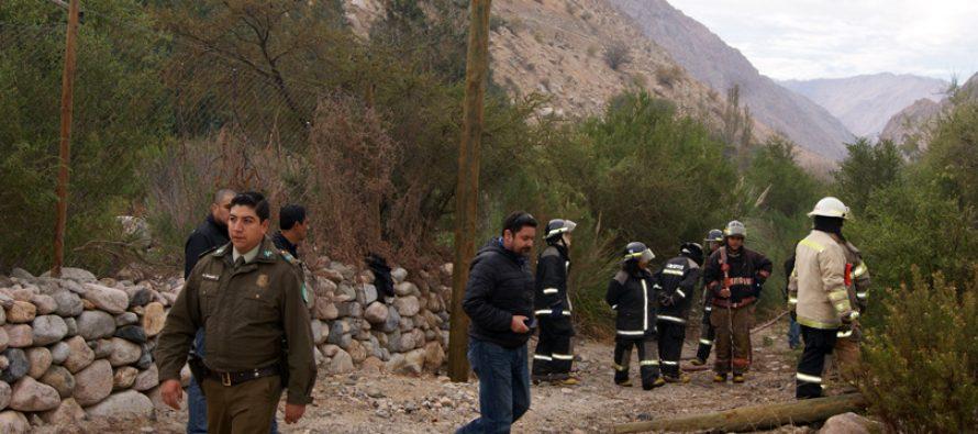 Caída de poste produjo quema de pastizales en fondo de Montegrande