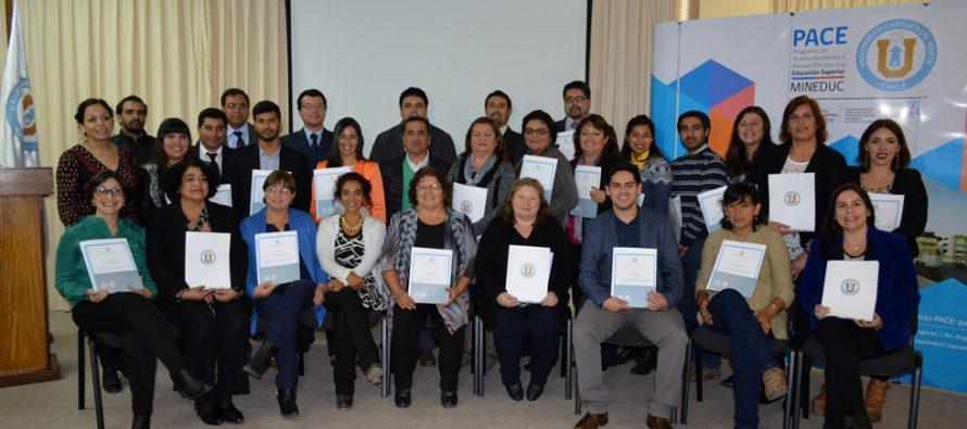 Profesores de los liceos de Vicuña y Paihuano reciben certificación CPEIP y diplomado UCN