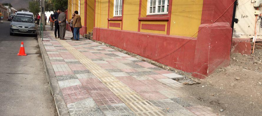 Más de 135 millones de pesos se invierten en el mejoramiento de veredas de Vicuña