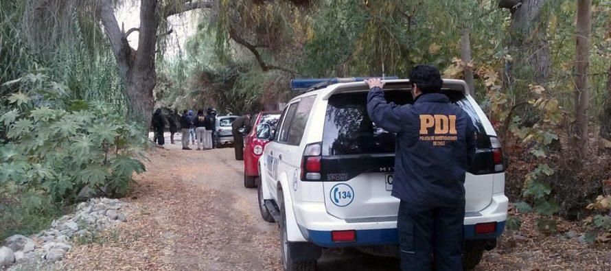 PDI realiza reconstitución  de escena de presunto homicidio  de joven en Paihuano