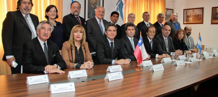 Gobernador Uñac destaca rol del CORE en materialización de túnel Agua Negra