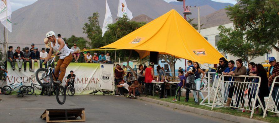 Con una gran convocatoria se realiza primer campeonato de ciclismo BMX en Vicuña