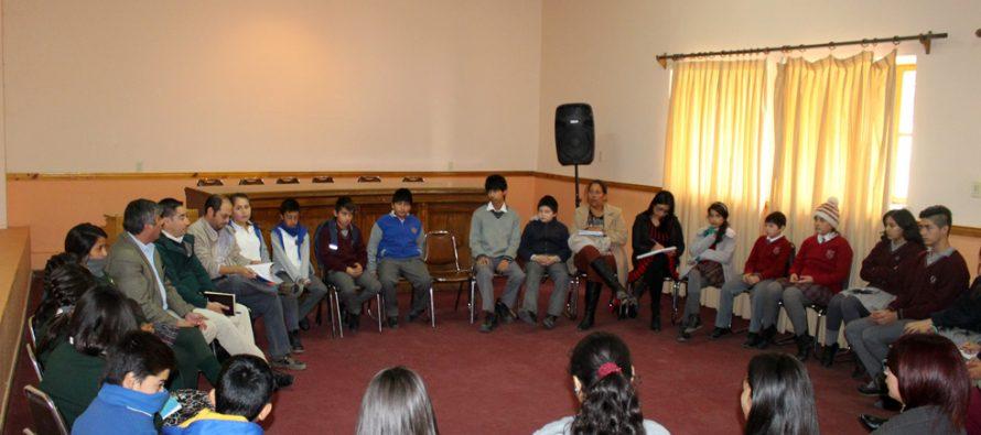 Con el objetivo de escuchar a niños, niñas y adolescentes realizan consejo consultivo escolar