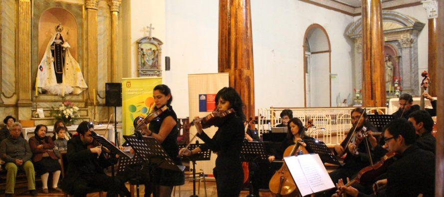 Orquesta Sinfónica de la ULS inicio su temporada de conciertos en la Iglesia de Vicuña