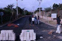 Destacan los trabajos de pavimentación de la localidad de La Compañía