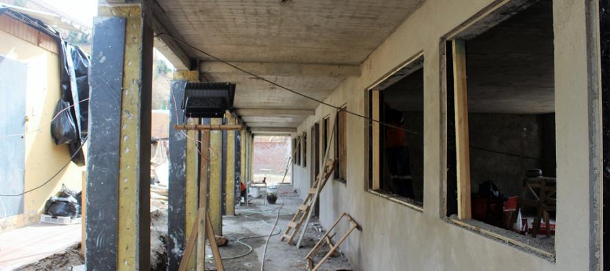 Continúas las obras de construcción de la nueva Escuela de Pisco Elqui