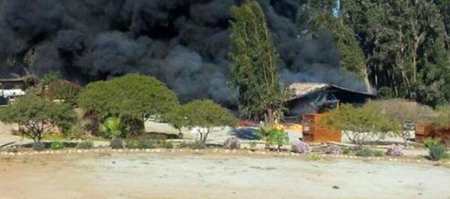Incendio afecta a parque acuático Curunina en Altovalsol