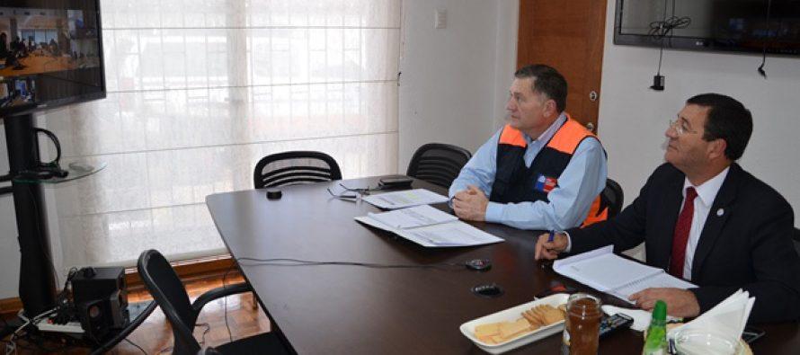 Director de Onemi y Gobernador de Elqui coordinan acciones por llegada de sistema frontal
