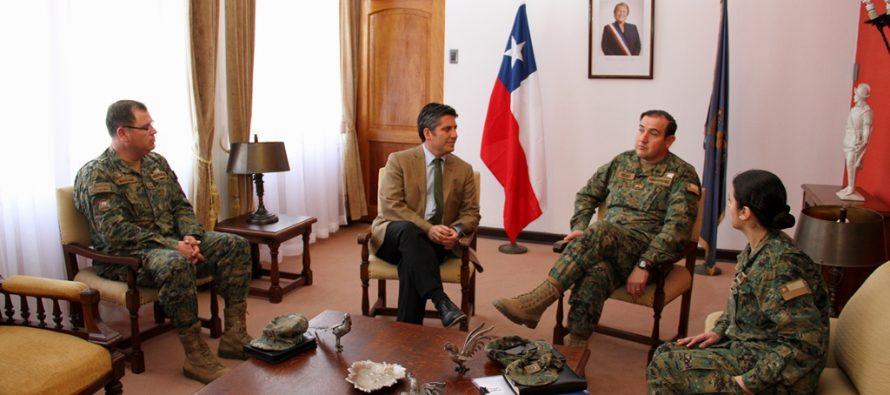 Intendente Ibáñez recibe a Jefe de Orden y Seguridad para elecciones primarias