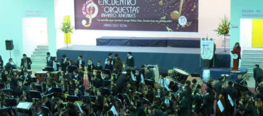 Orquesta de Niños del Valle de Elqui de Paihuano deleitó al público de Andacollo