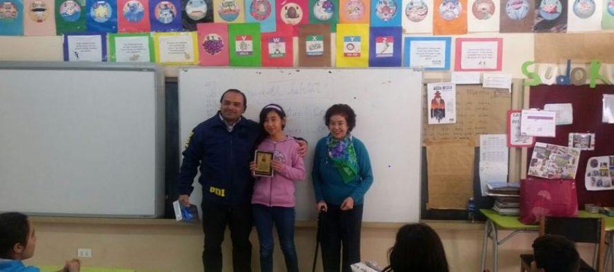 Escuela de Horcón es reconocida por la PDI de Vicuña en con corcurso de relatos cortos y poesía