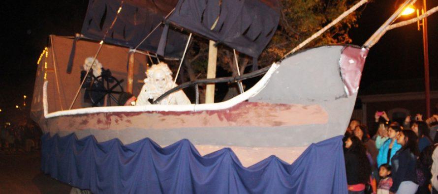 """""""El Caleuche"""" de El Tambo fue el carro ganador del Carnaval de Invierno de Vicuña"""