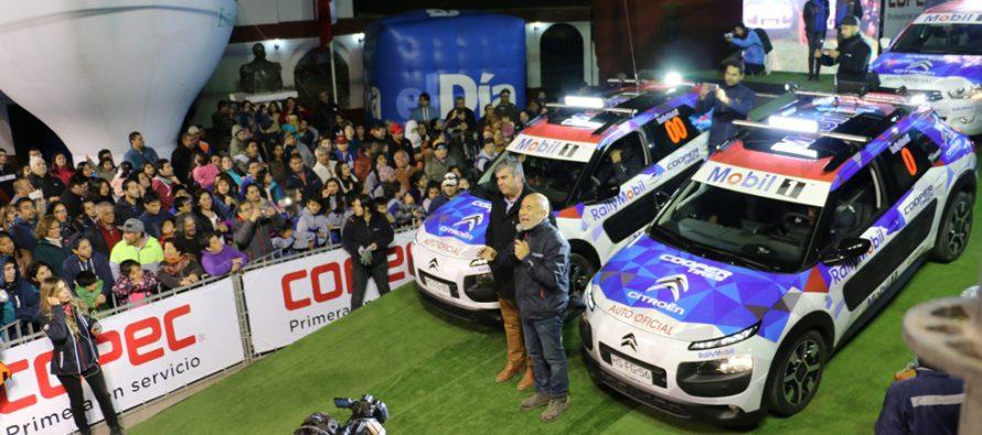 RallyMobil tuvo su inicio de fiesta con la Largada Protocolar en el frontis de la Municipalidad de Vicuña