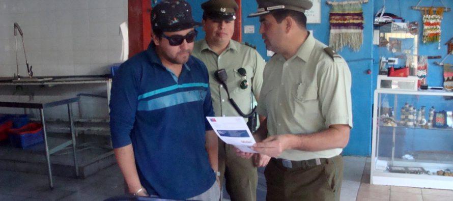 Carabineros promueve en Vicuña el comercio seguro